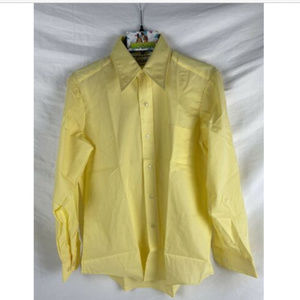 Vtg 60's 70s Male Duds Yellow Retro Mod Shirt M